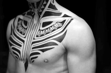 front neck tattoos for men 40 tribal neck tattoos for manly ink ideas