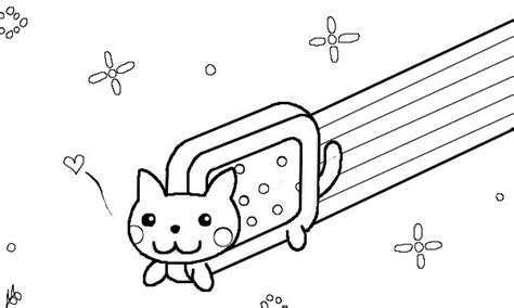 coloring page nyan cat 17 best images about cute things on pinterest pink