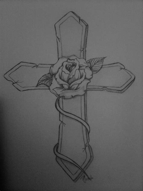 tattoo cross with roses designs rose and cross tattoo by nexquick on deviantart