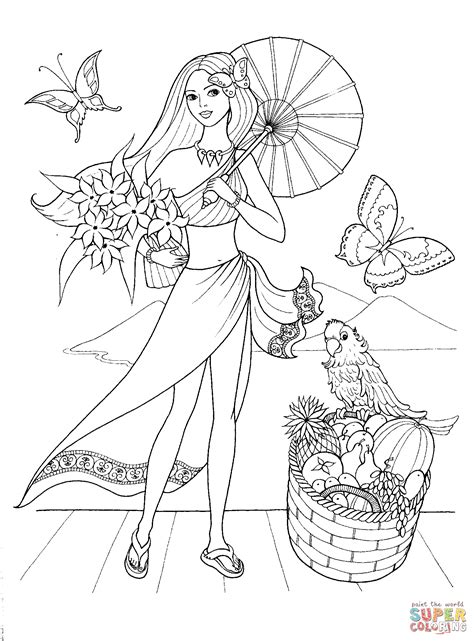 Dibujo De Moda De Verano Para Colorear Dibujos Para Fashion Coloring Pages 17 Free