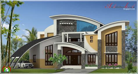 modern style homes architecture kerala 5800 square contemporary style house elevation