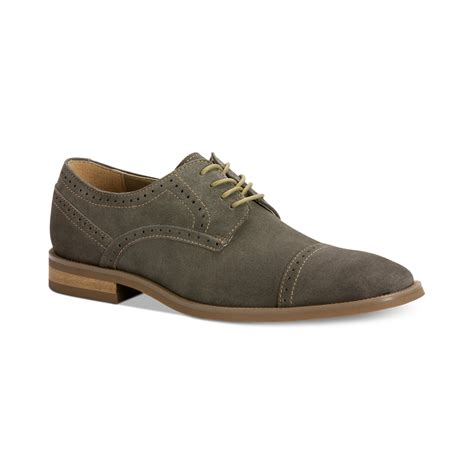 macys mens athletic shoes calvin klein hancock captoe oxfords in gray for