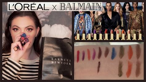 Loreal Balmain l oreal x balmain lipsticks all 12 shades review my
