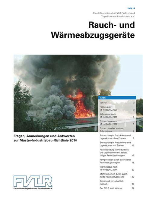 Muster Industriebaurichtlinie 2014 Baulicher Brandschutz Neue Muster Industriebau Richtlinie