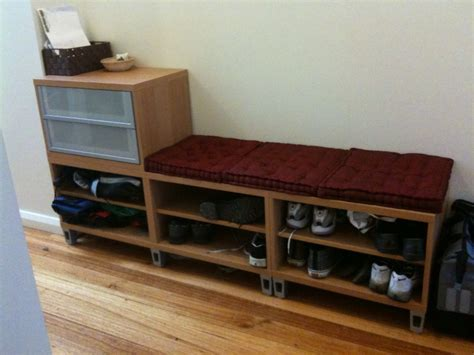 shoe storage bench ikea hallway storage bench ikea hackers ikea hackers