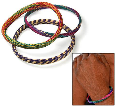 Handmade Woven Bracelets - handmade woven grass bracelets set of 3 the hunger site