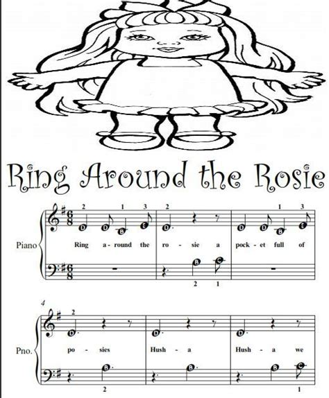 keyboard beginner tutorial pdf ring around the rosie beginner tots piano sheet music ad