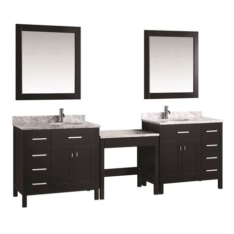 L For Makeup Vanity by Design Element Two 36 Quot Single Sink Vanity W Make Up Table Espresso Dec076d Dec076d L