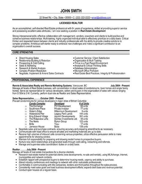 Realtor Resume Exles by Realtor Resume Exles Resume Template Easy Http