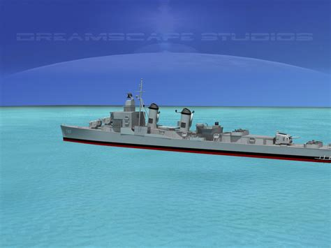 destroyers 1939ã 45 wartime built classes new vanguard books sumner class destroyer dd747 uss samuel m 3d model