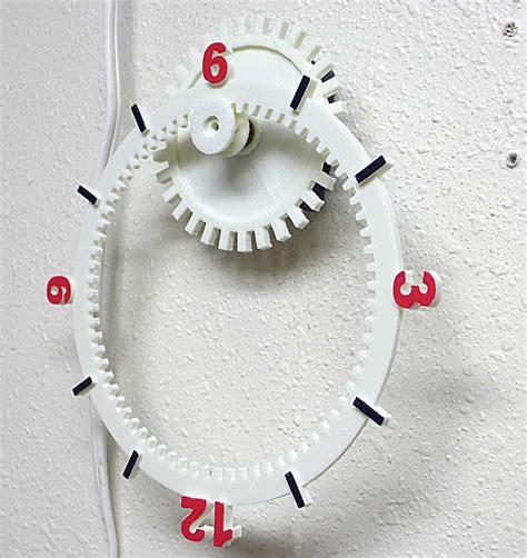 printable clock model floating gear clock 3d model 3d printable stl cgtrader com