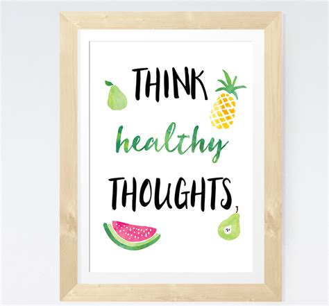 printable wellness quotes health quote printable think healthy thoughts