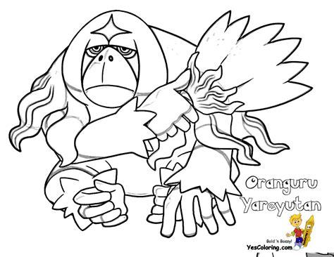 pokemon coloring pages pansage rowdy pokemon moon coloring free pokemon coloring