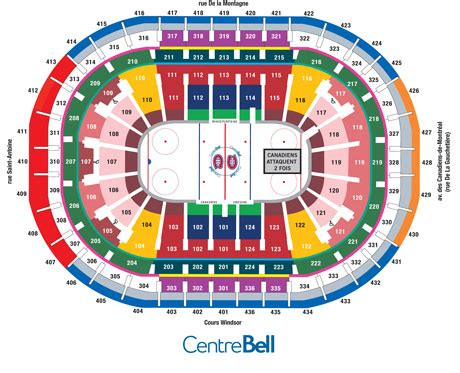bell centre detailed seating chart billets de hockey canadiens sabres au centre bell