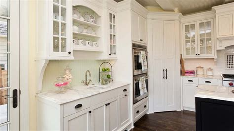 adding an kitchen look with white kitchen pantry