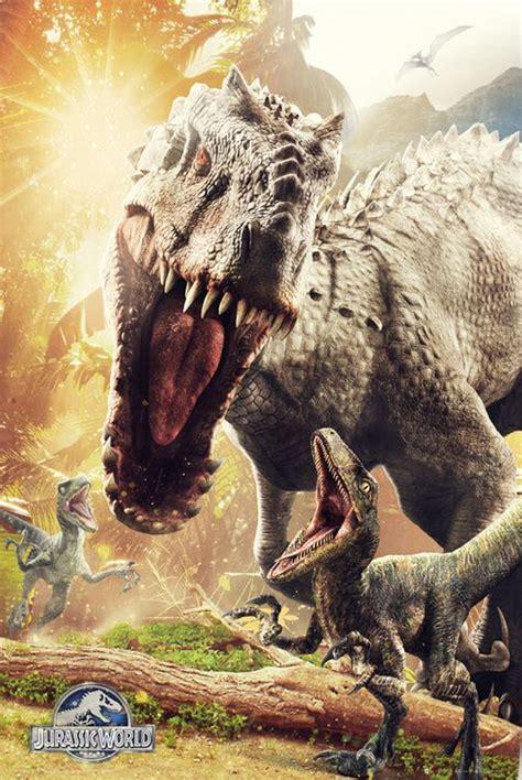film dinosaurus world jurassic world t rex and indominus rex posters jurassic