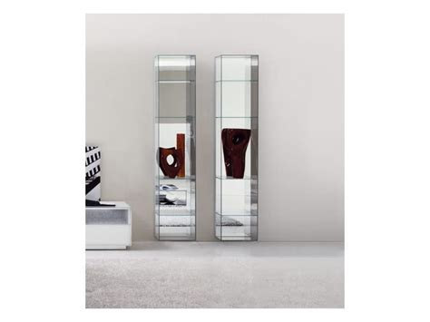 immagini librerie moderne libreria moderna in vetro con schienale a specchio