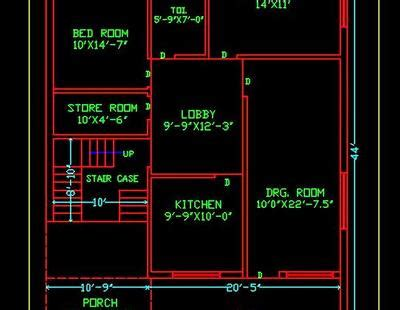 house space planning  ground floor plan dwg