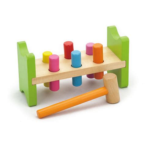 pound a peg wooden bench new childrens wood pound a pegs bench hammer baby toddler