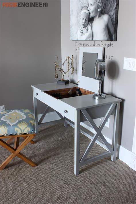how to build a vanity desk flip top vanity free diy plans vanities flipping and free