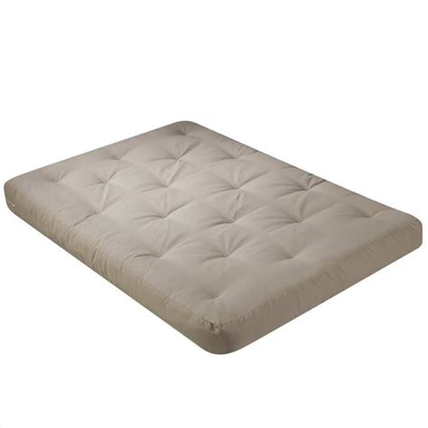 4 Inch Futon Mattress by 8 Inch Futon Mattress With 2 5 Inch Finger Foam In Khaki