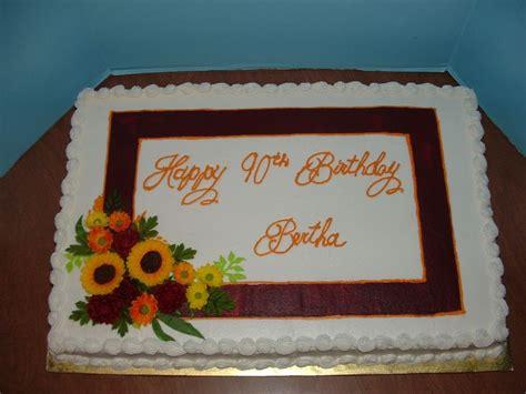 birthday cakes full sheet fondant sunflowers burgundy mums  yellow daisy mums decorated