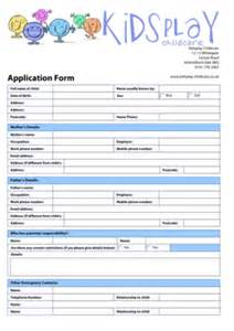 child care registration form template child care registration form fill printable