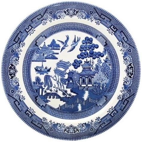 blue pattern crockery churchill blue willow 6 dinner plates 26cm new unused ebay