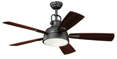 black industrial ceiling fan vaxcel lighting f0033 gold stone walton 52 quot 5 blade indoor