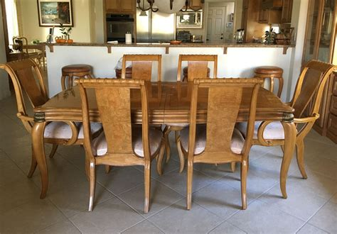 bernhardt dining room chairs bernhardt furniture burlwood dining room set ebay