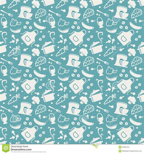 kitchen pattern background kitchen seamless pattern vector background stock vector