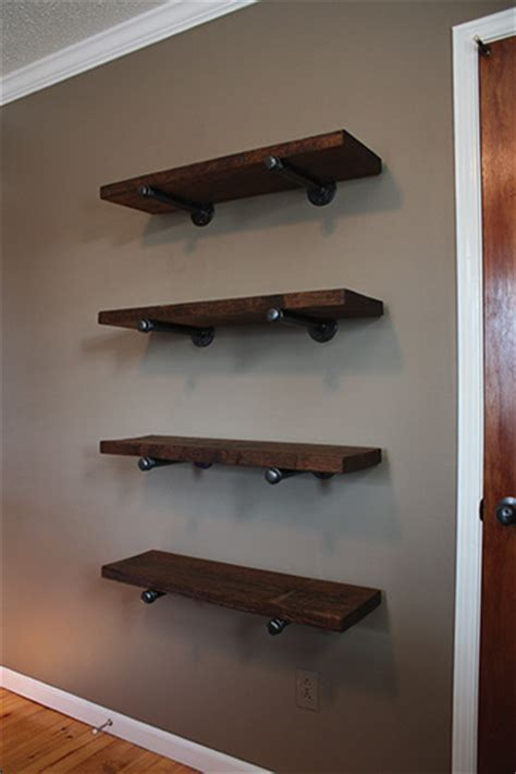 Kitchen Flooring Idea by Pipe Bracket Shelving Extreme How To