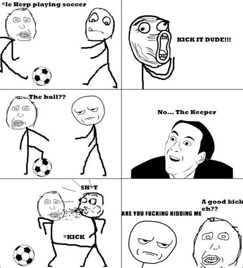 Herp Meme Comic - herp plays soccer rage comic by albowtross91 on deviantart