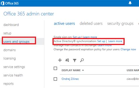 How To Activate Office 365 Portal Ondrej žilinec It 187 Active Directory