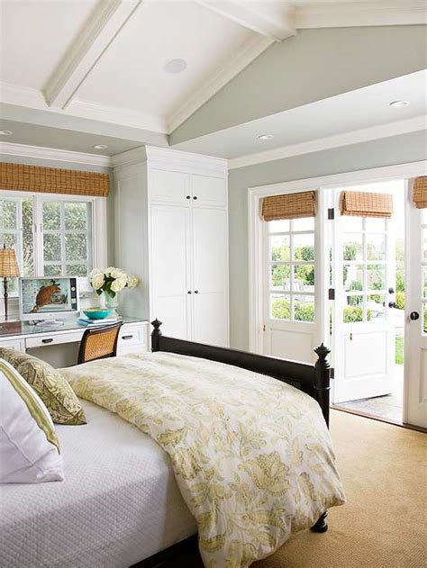 bedroom vaulted ceiling cottage bedroom bhg