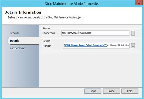operations runbook template managing operations manager maintenance mode using