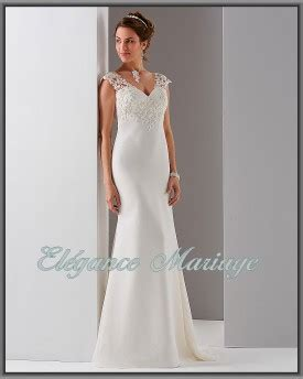 Robe De Mariée Droite Dentelle - robe de mari 233 e droite