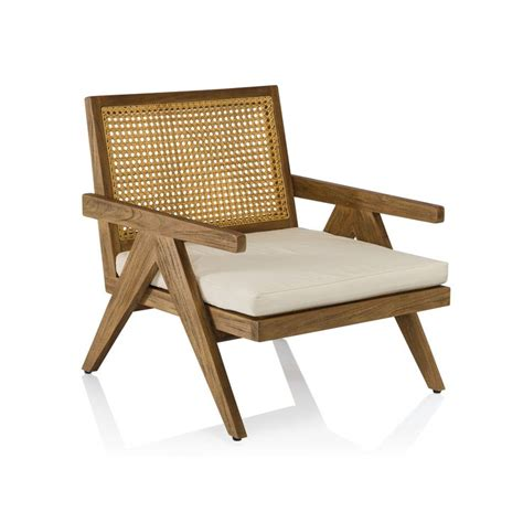 Teak Lounge Chair Design Ideas A Contemporary Teak And Wicker Outdoor Occasional Chair Armchairs Pinterest Occasional