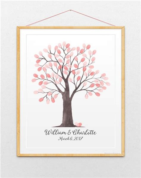printable family tree guest book 36 best wedding fingerprint tree ideas guest books