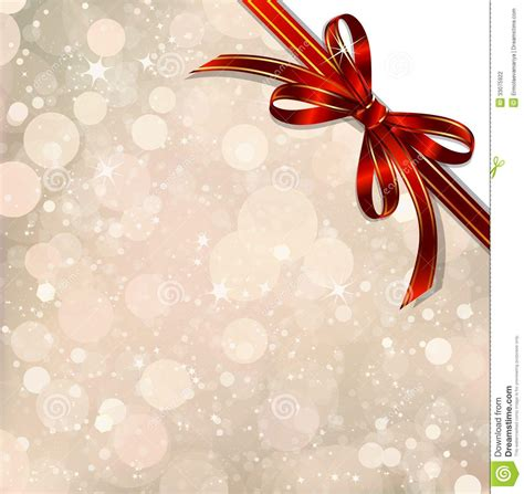 red bow   magical christmas  vector stock vector