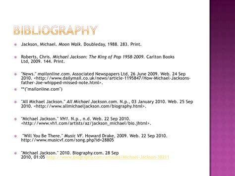 michael jackson biography printable revised michael jackson presentation