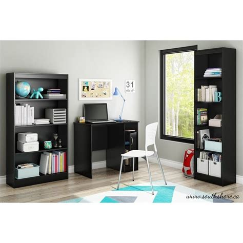 south shore axess small desk south shore axess small desk in black 7270075