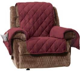 Seat Covers For Recliners Sure Fit Recliner Furniture Cover With 1 Quot Memory Foam Seat