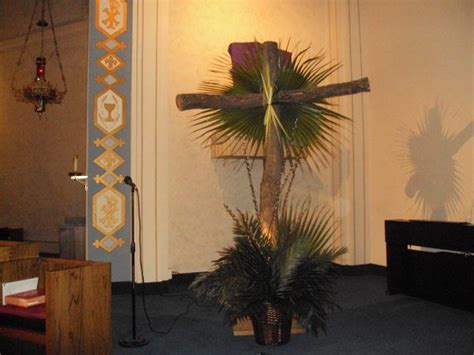 Palm Sunday Decorations Church by Palms And Cross Liturgical