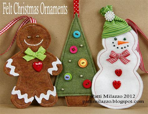 christmas decorations to make felt christmas ornament patterns