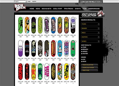 tech deck brands tech deck brand website design creative direction on behance