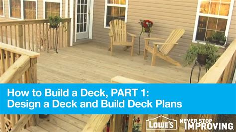 how to build own house how to build a deck part 1 design deck plans youtube