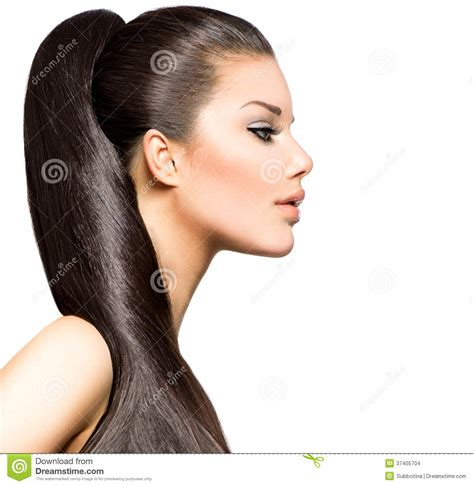 Images Hairstyles by Ponytail Hairstyle Stock Images Image 37405704