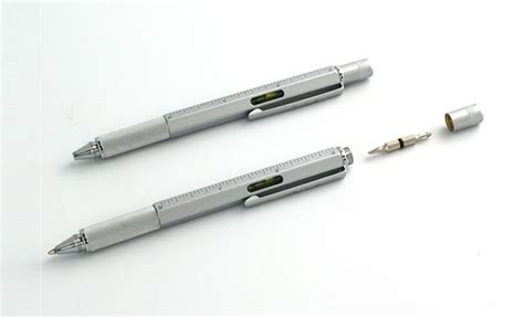 pen with all in one pen screwdriver level and ruler boing boing