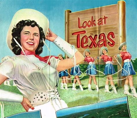 texas official travel map  cowgirls mad men